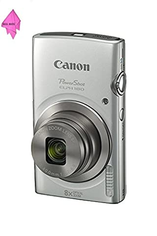 Canon PowerShot ELPH 180 (Silver) with 20.0 MP CCD Sensor and 8x Optical Zoom PLUS CLEANING CLOTH - Optical Sensor