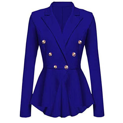 URIBAKE ❤️ Women's Lapel Suit Jacket Classic Elegant Button Waterfall Ruffles Blazer Peplum Dress Outerwear