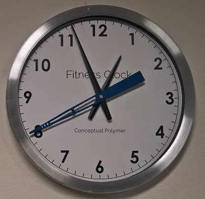 Conceptual Polymer Fitness Wall Clock/Timer