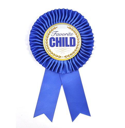 Favorite Child Award - Blue Ribbon - Funny Gag Gift - Christmas or Birthday Idea - New Novelty ()