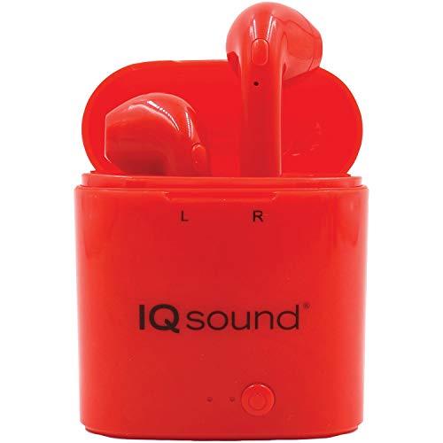 IQ Sound True Wireless Earbuds (Red)