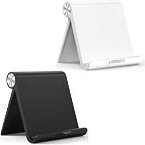 UGREEN Tablet Stand Holder Bundle Adjustable Compatible for iPad 10.2 2019, iPad Pro 11 Inch 2020, iPad 9.7 2018, iPad Mini 5 4 3 2, iPad Air, Nintendo Switch, iPhone 11 Pro Max XS XR X 8 Plus 7 6