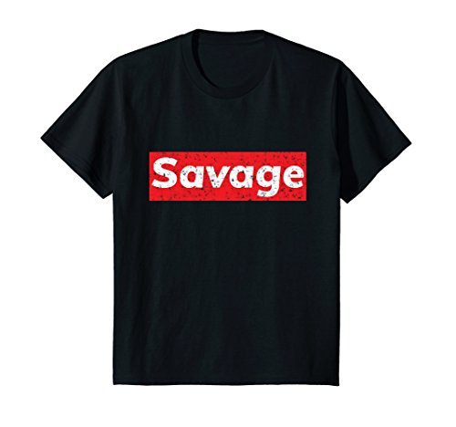 Kids Distressed Hip Hop Savage T Shirt 6 Black by Hip Hop Savage Shirts