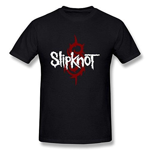 NNKEY Men's Short Sleeve Slipknot Rock Band Logo T-shirt Black XL (New Slipknot Masks For Sale)