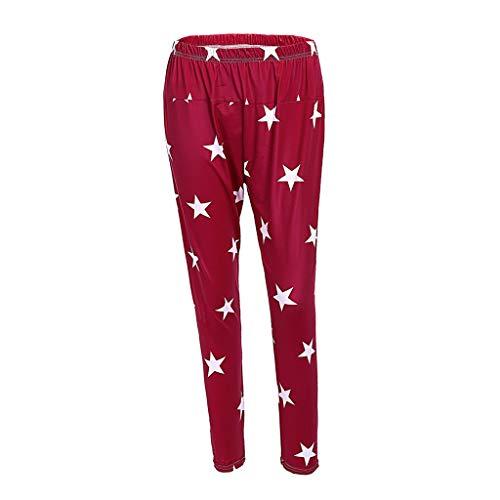 Winsummer Women's Maternity Lounge Pajamas Pants Pregnant Nursing Elastic Waist Sleepwear Bottoms Trousers
