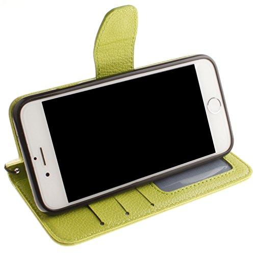 Voguecase® Pour Apple iPhone 6/6s 4,7 Coque, Étui en cuir synthétique chic avec fonction support pratique pour Apple iPhone 6/6s 4,7 (Dragonne-Litchi-Vert)de Gratuit stylet l'écran aléatoire universel