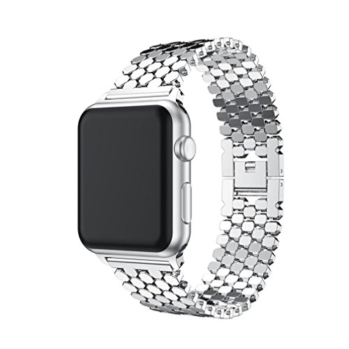 YJYdada Stainless Steel Smart Watch Band Replacement Strap For Apple Watch Series 3 38MM (Silver) Photo #2