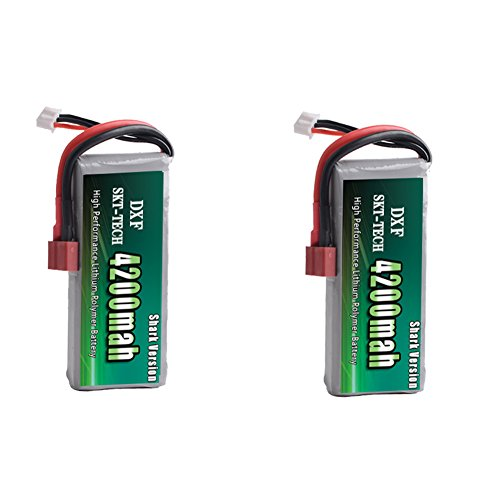 DXF 2 Packs 7.4V 4200mah 20C lipo Battery for Feiyue 03 Wltoys 12428 12423 jjrc q39 Rc Car Upgrade Parts
