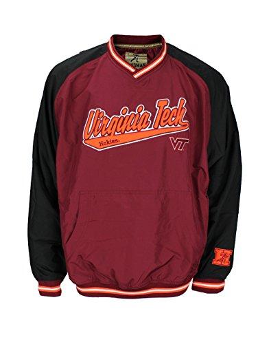Virginia Tech Hokies Hot Windbreaker Jacket (Large) Maroon