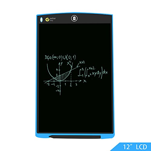 "GeekerBuy LCD Writing Pad 12"" Large Drawing Board for Adults and Kids, Free Standing Erasable Writing Board for Office Work, Study and Doodle by GEEKERBUY"