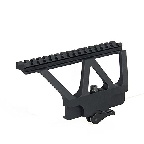 Tacksport Scope Rail Mount A-K Type Scope Mount Picatinny Weaver Black (Best Accessories For Ak 47)