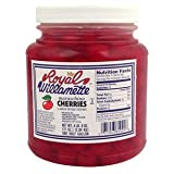Royal Willamette Maraschino Cherries large with Stems 4LB 8 OZ (pack of 6)