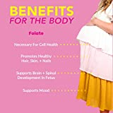 Pink Stork Folate: Quatrefolic Acid + Methyl Folate - MTHFR Acid, Recommended Before and During Pregnancy, Women-Owned, 60 Capsules