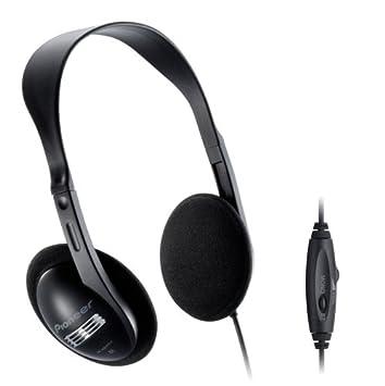 Pioneer SE-A611TV. - Auricular estéreo con control de volumen, color negro: Amazon.es: Electrónica