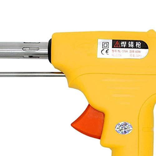 Wecando NL - 110V/106A Manual Soldering Gun 60W One-Hand Lead Universal Soldering Gun Kit (Yellow) by Wecando (Image #5)