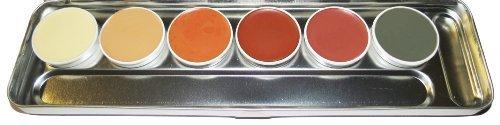KRYOLAN 6 Shades Camouflage Creme Palette - Art.#71007 - S
