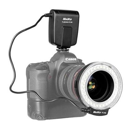 C-100 32 Super Bright LED Macro anillo de Flash para Canon, Nikon ...