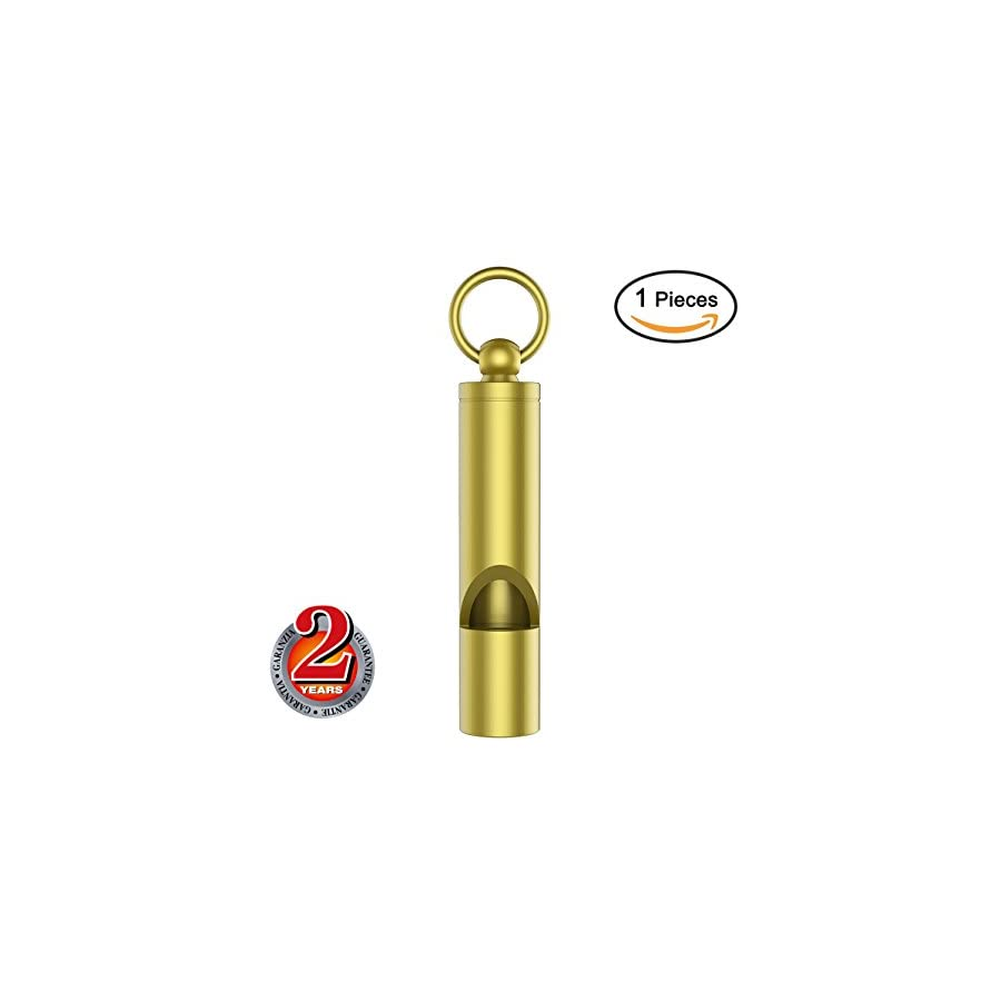 Mini Whistle Premium Emergency Whistle by Outmate H62 Brass Loud Version EDC Tools