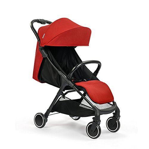 Babysing Baby Stroller Lightweight City jogging stroller Can take the plane S-go Red color