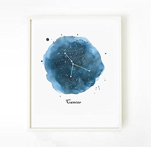 Amazon.com: Cancer Zodiac Art Print, Cancer Zodiac Print ... on