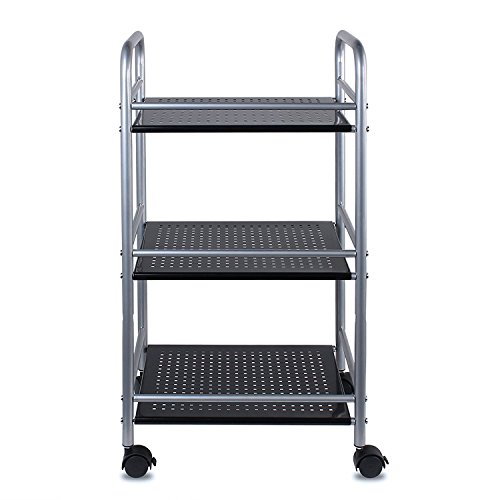 metal shelf with wheels - 7