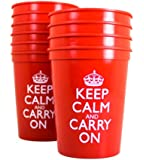 Red Cups Red Plastic Cups Keep Calm and Carry On Tumblers