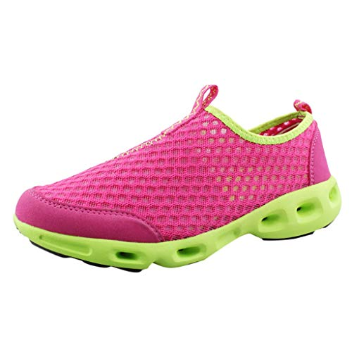 Sunskyi Women Water Walking Shoes,Summer Female Mesh Breathable Lightweight Casual Non-Slip Quick-Drying Beach Shoes