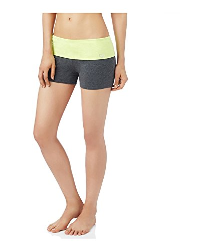 Aeropostale Womens Yoga Athletic Workout Shorts, Yellow, X-Small (Aeropostale Workout Clothes)