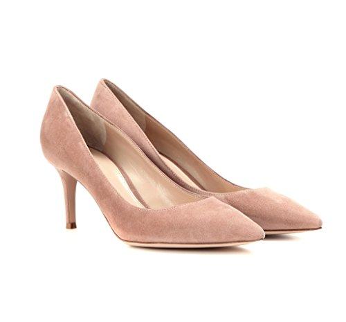 Fermé Bout Escarpins Cm Edefs Classique Suedepink Chaussures Soiree Bureau heel Femme 6 Pointu Shoes Kitten 0dqfrqzW