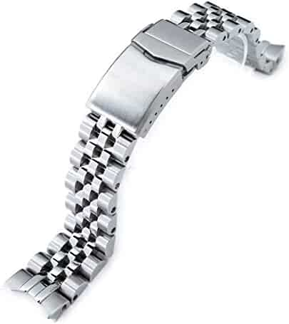 20mm Angus-J Louis Metal Watch Bracelet for Seiko Alpinist SARB017, V-Clasp