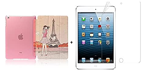 Go Crazzy Translucent Back Flip Cover For Apple iPad 2, 3 And 4With Glossy Screen Guard Bags,Cases   Sleeves