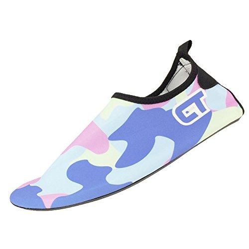 SENFI Jungen Mädchen Wasser Schuhe Mutifunctional Barfuß Quick Dry Aqua Schuhe Für Strand Pool Übung (Kleinkind / Little Kid / Big Kid) C. hellblau