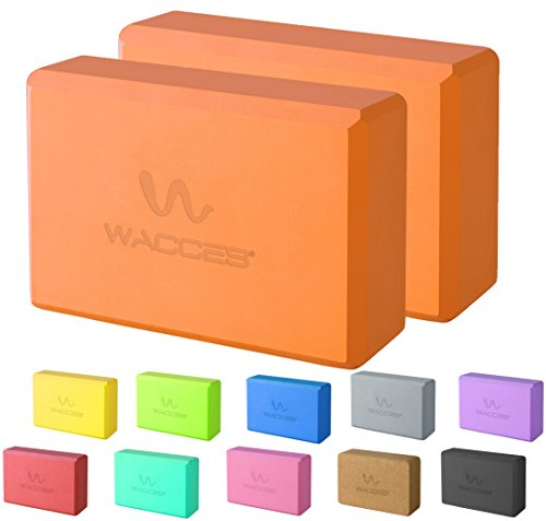 Wacces Foam Exercise, Fitness & Yoga Blocks - Set of 2 ( 9