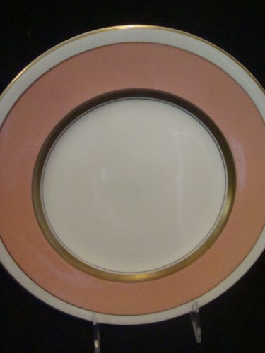 Old Ivory Syracuse China Dessert Plate Salisbury Coral with Gold Trim 7