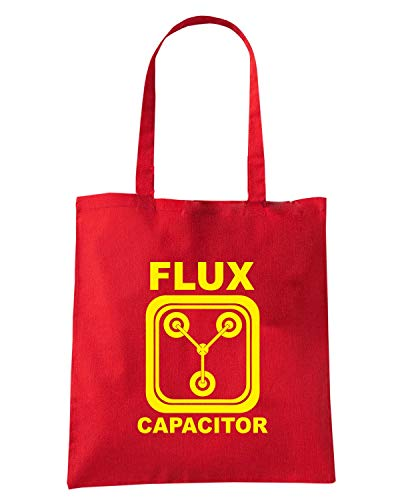 Speed Shirt Borsa Shopper Rossa FUN0668 BACK TO THE FUTURE FLUX CAPACITOR