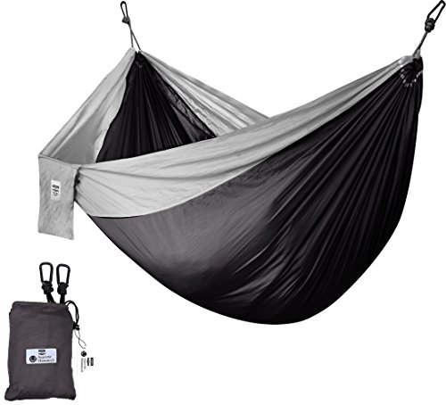 Utopia Home Supreme Nylon Hammock - Supports up to Two People or 400 LBS - Porch, Backyard, Indoor and Camping - Durable and Ultralight Material - Includes Hanging Straps