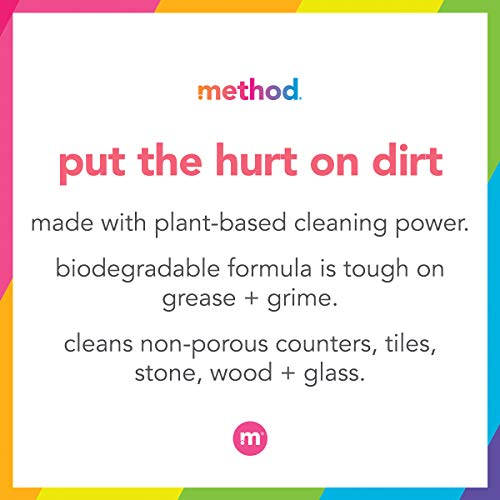 Method All-Purpose Cleaner Spray, Plant-Based and Biodegradable Formula Perfect for Most Counters, Tiles, Stone, and More, French Lavender Scent, 828 ml Spray Bottles, 8 Pack, Packaging May Vary