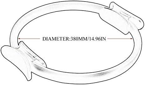 Tragbare größe 38 cm Yoga Widerstand Ring leichte abnehmen magische Kreis Oberschenkel Beine Widerstand Yoga Ring Training Tool (lila) DEjasnyfall