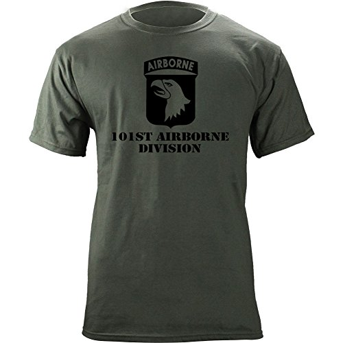 USAMM Army 101st Airborne Division Subdued Veteran T-Shirt (2XL, Green)