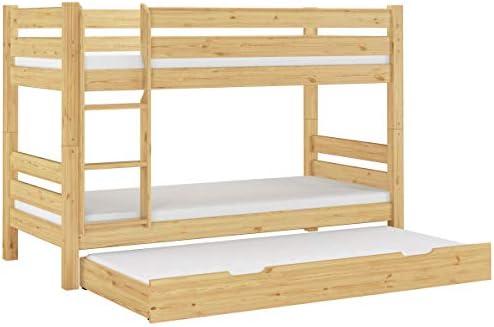 Erst-Holz Cama Castillo 90 x 200 con Tablas de Madera, 3 colchones y cómoda Cama 60.11 – 09 100 m S7 M: Amazon.es: Hogar