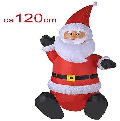 Muñeco de nieve hinchable 120 cm: Amazon.es: Hogar