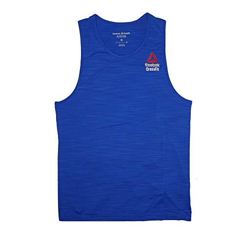 Reebok T-shirt Tank Top - Reebok Crossfit Men's Blue 2017 Crossfit Games Perf. ActivChill Tank Top (L)