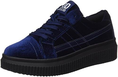 041379 Femmes Bass3d Formateurs, Noir, Bleu 3,5 (marine Marine)