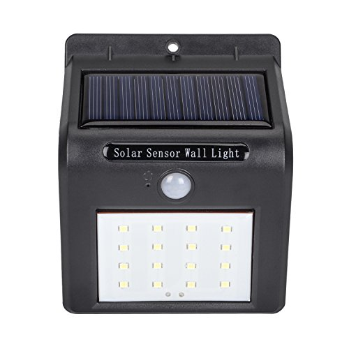 Zoeson 24 LED Solar Light Motion Sensor Night Light with Auto On & Off + 450 Lumen+ Waterproof IP64 (Black 1-pack) Review
