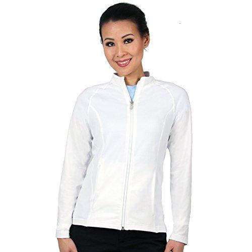 Nozone Lanai Full Zip Sun UPF 50+ Shirt in White, Medium