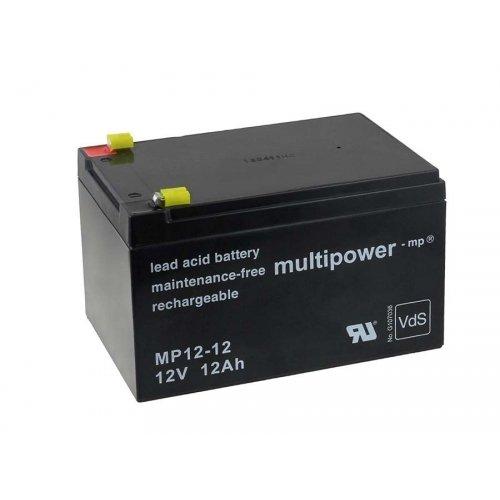 akku-net Ersatzakku für Solaranlagen Hebebühnen Reinigunsmaschinen Notbeleuchtung Alarmanlage 12V 12Ah, 12V, Lead-Acid