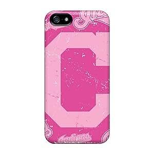 AlissaDubois Iphone 5/5s Shockproof Hard Cell-phone Cases Custom Fashion Cleveland Indians Pictures [xGj4163HEbk]