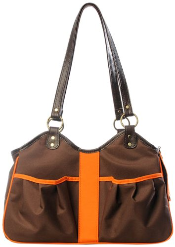 Petote Metro 2 Pet Carrier Bag, Large, Brown/Orange