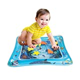TRSCIND Inflatable Baby Water mat Tummy Time Toys Infants' Perfect Fun Time Play Activity Center 24'' X 20''