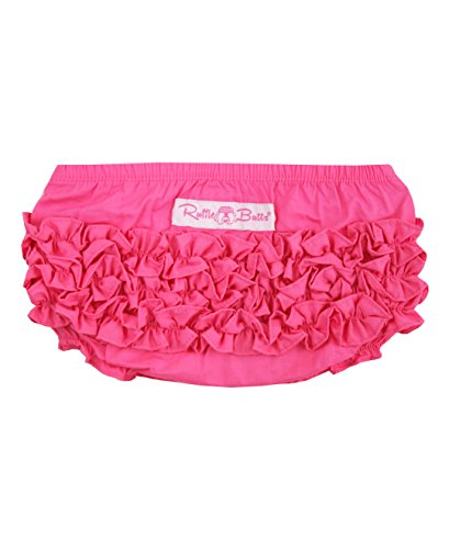 RuffleButts Infant / Toddler Girls Ruffled Woven Bloomer - Candy - (Nappy Candy)